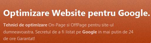 Optimizare web spam